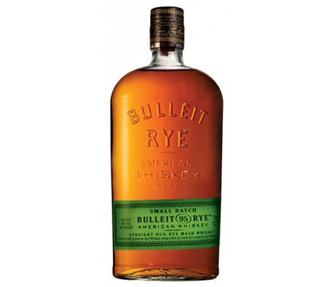Bulleit Rye bottle on white