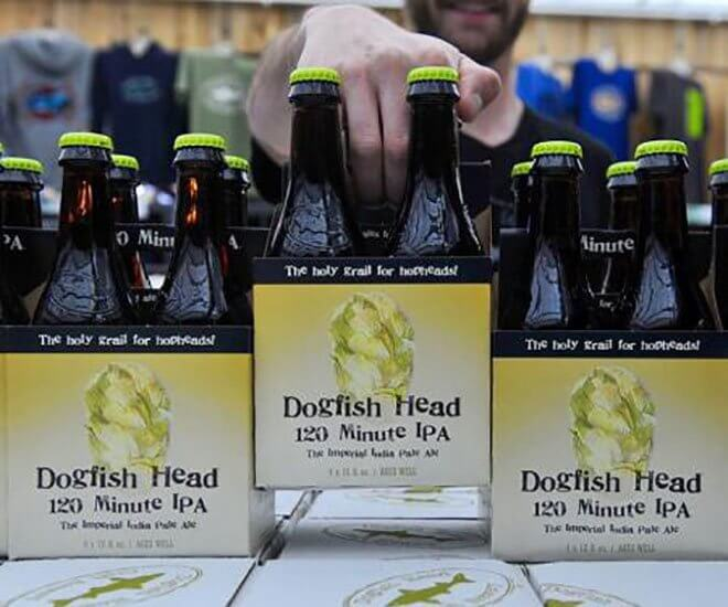 Dogfish Head Brewing 120 Minute IPA, 4 packs of bottles