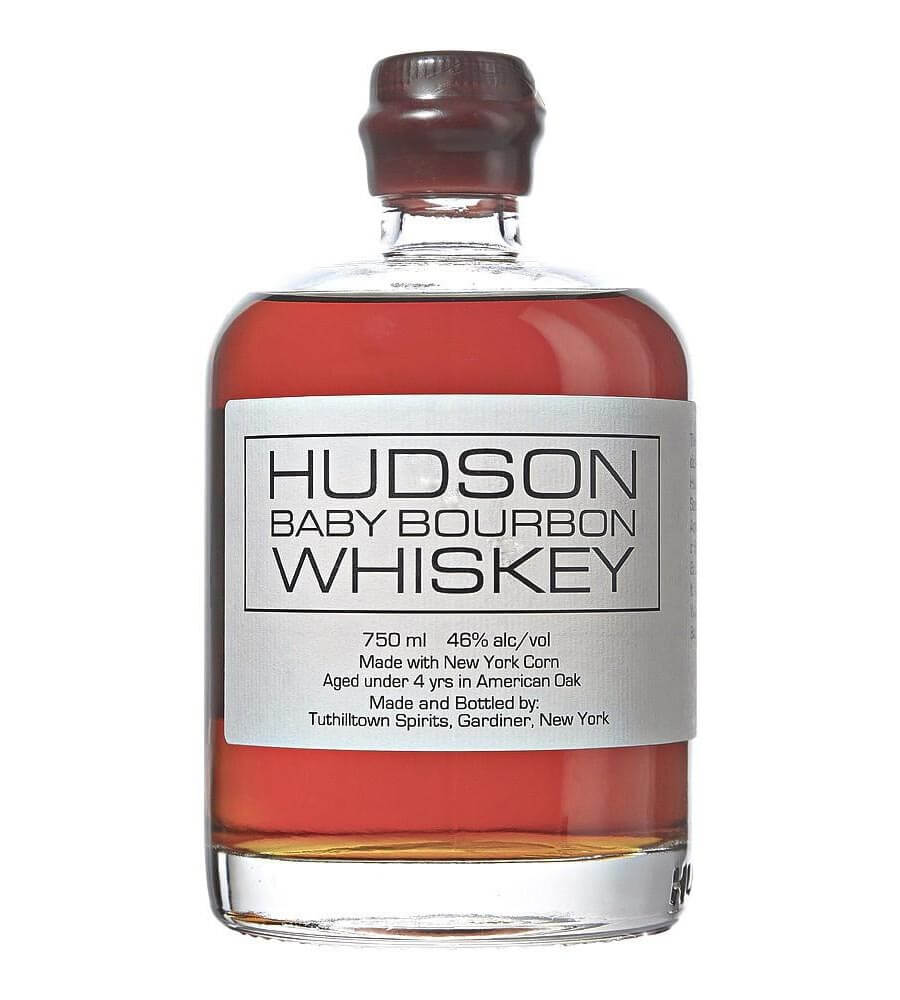 Hudson Whiskey Baby Bourbon, bottle on white
