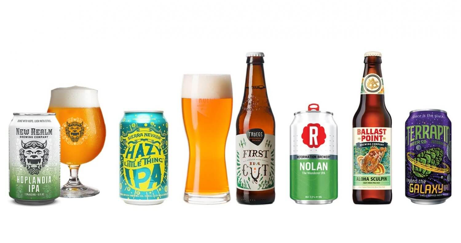 IPAs to try Now, bottles on white, featured image