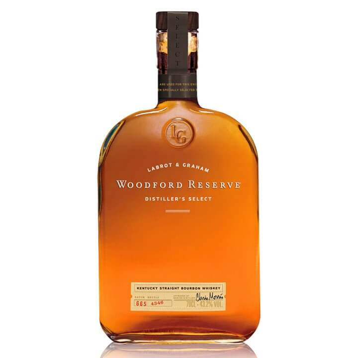 Woodford Reserve Distillers Select, bottle on white