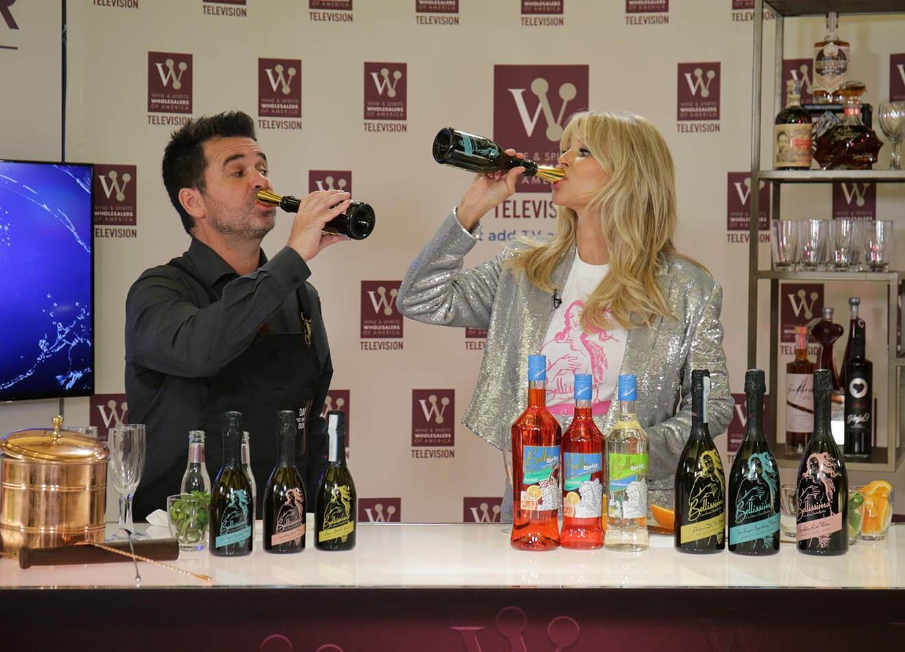 Christie Brinkley with Her Line of Bellissima Wine