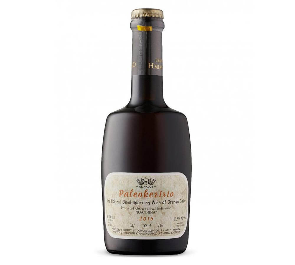 Domaine Glinavos Paleokerisio 2016, bottle on white