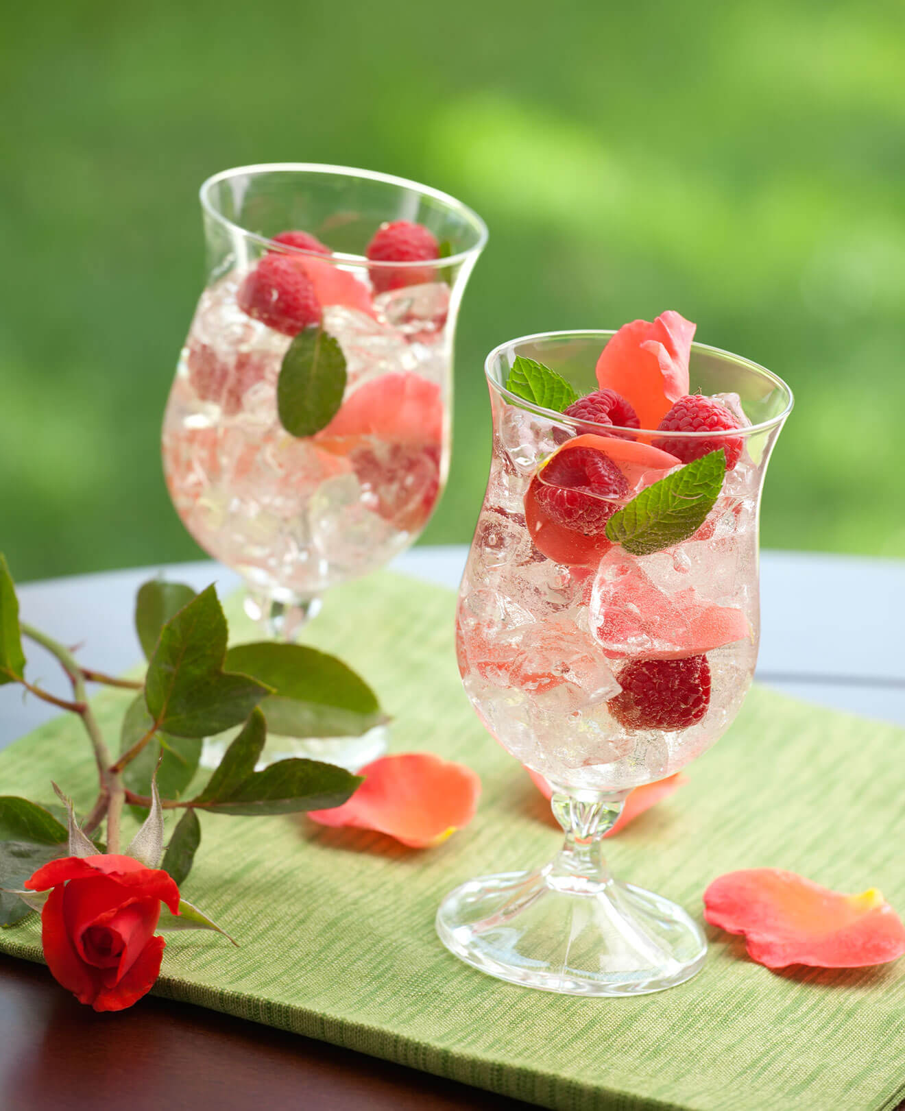 French Rosé Sangria, cocktails with berry garnish