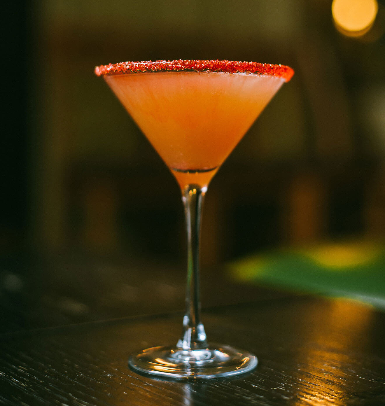 Italian Margarita cocktail with garnish and rim