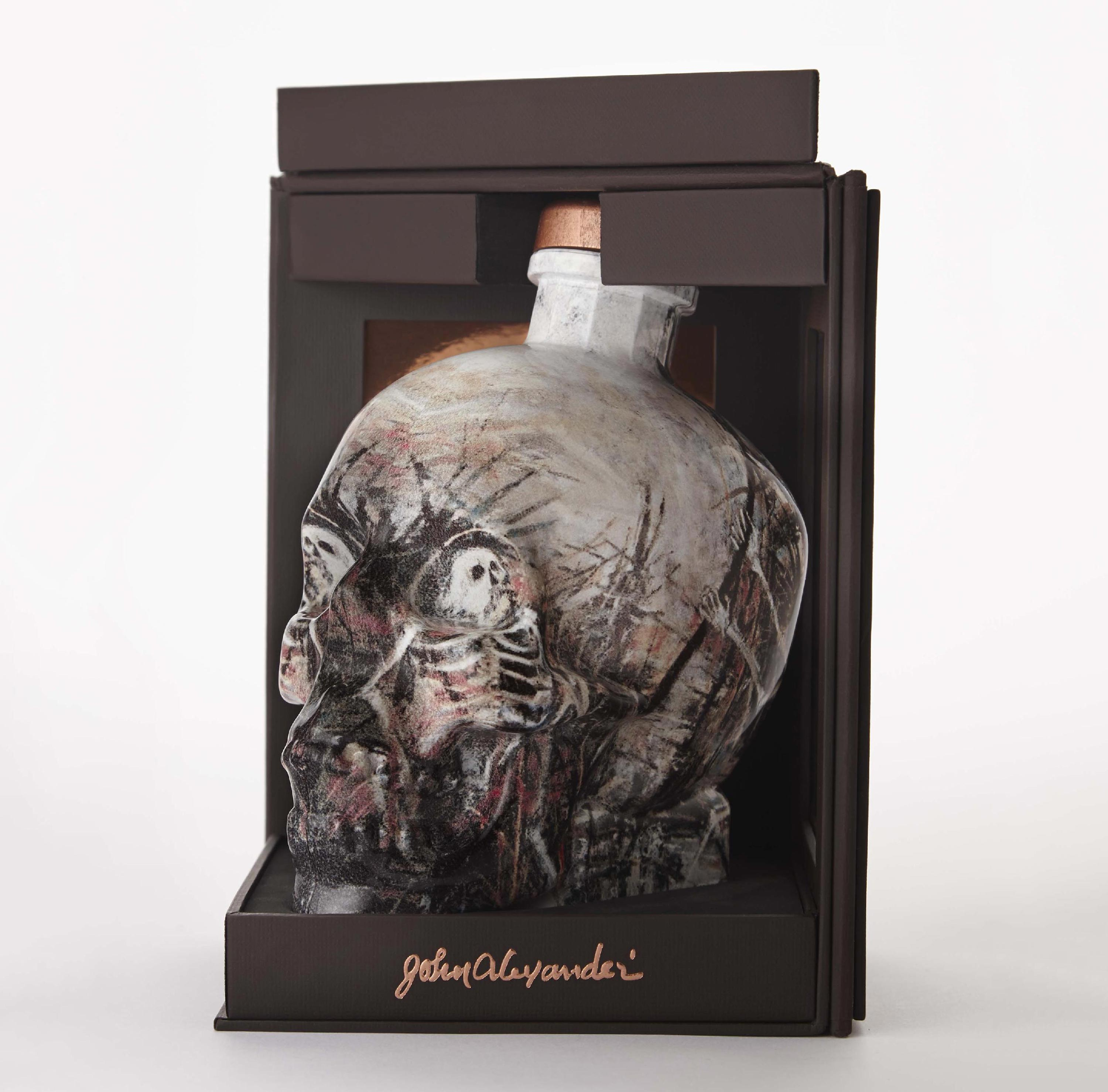 Crystal Head Vodka John Alexander Artist Series Bottle and packaging