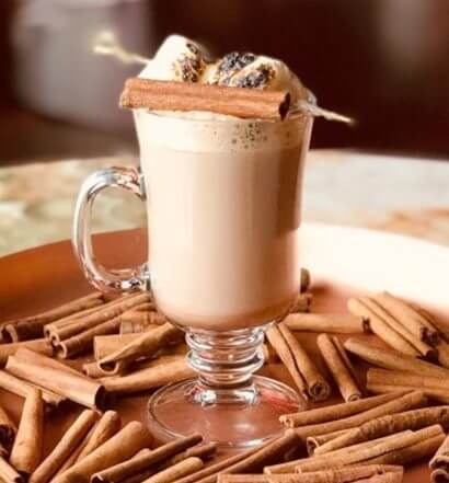 Mr. Black Hot Chocolate, cocktail on plate with spices, featured image