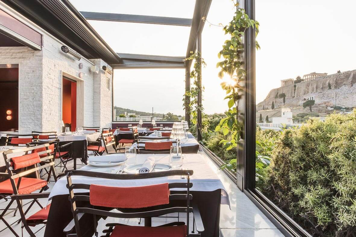Sense Restaurant, outdoor dining with a view