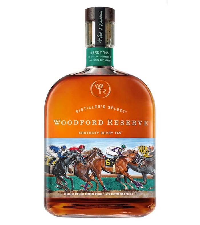 Woodford Reserve 2019 Kentucky Derby Bottle, on white