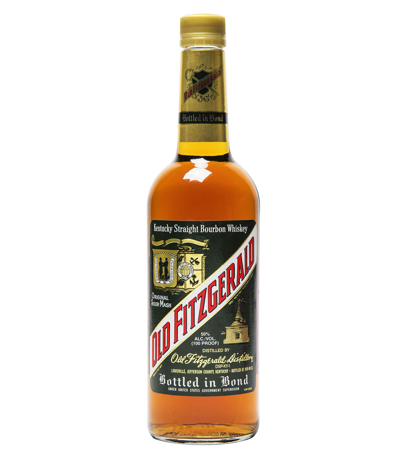 Old Fitzgerald Bottled-in-Bond, bottle on white