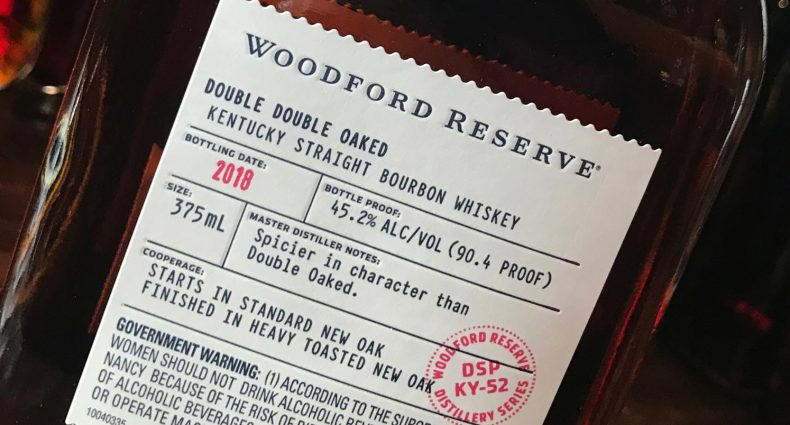 Woodford Reserve Double Double Oaked, bottle label, featured image