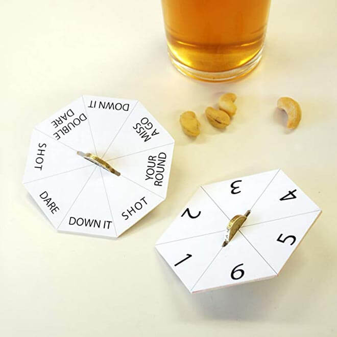 Bar Games Coasters on white