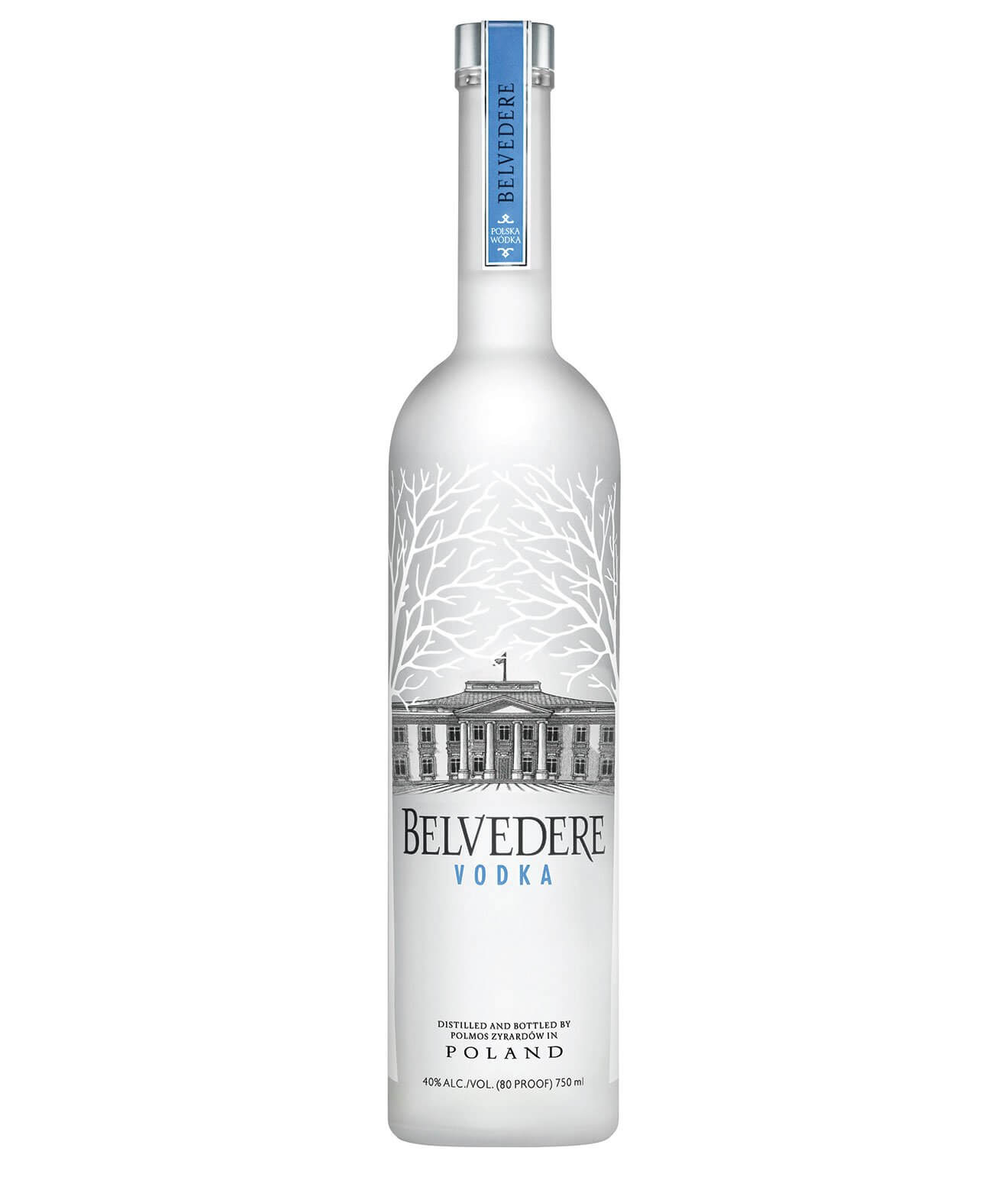 Belvedere Vodka, bottle on white