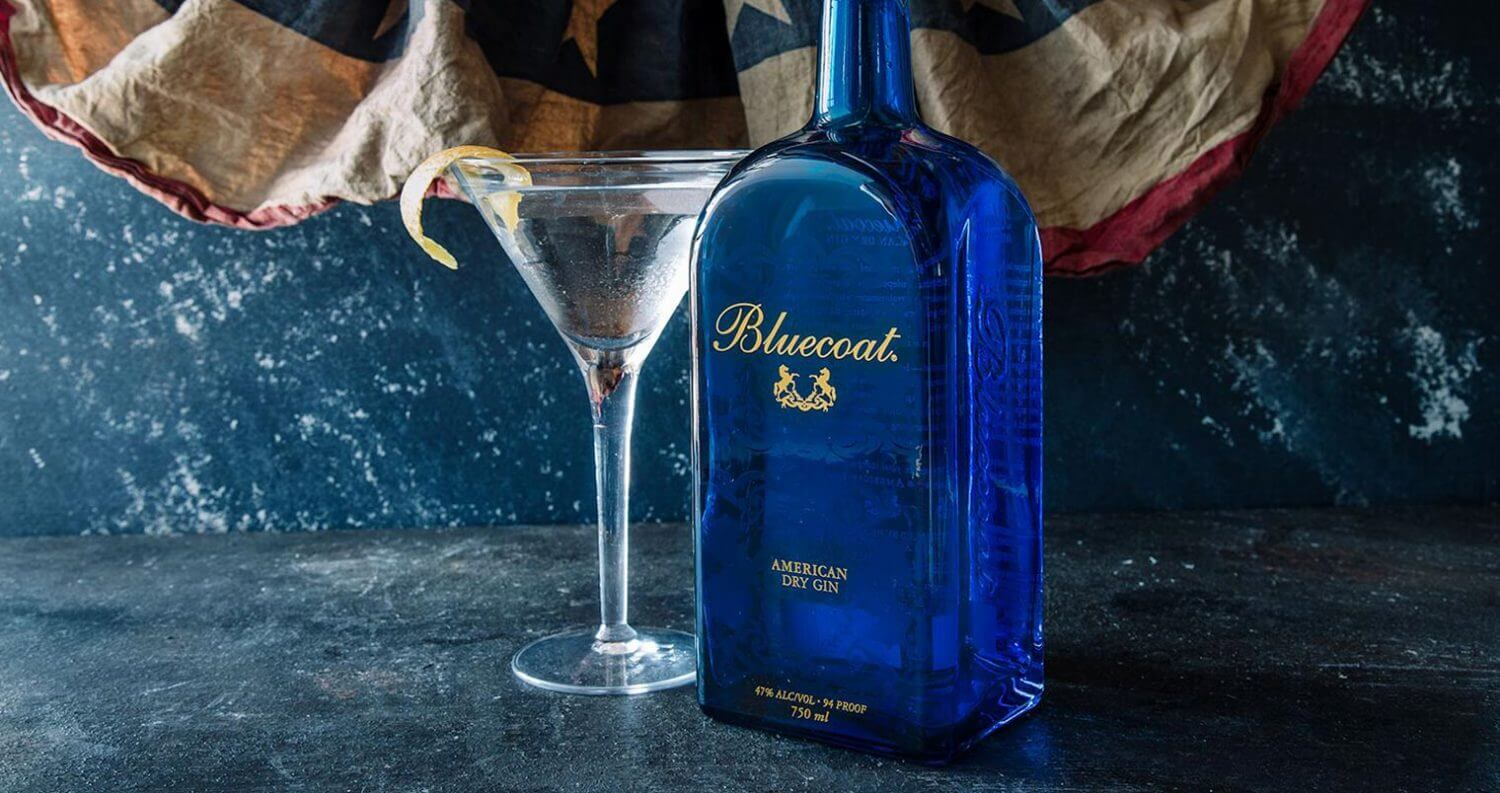Bluecoat America, martini and bottle, featured image