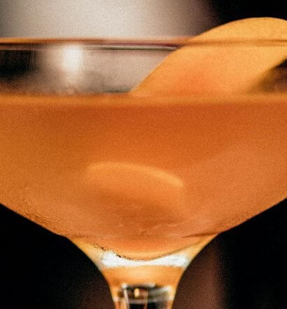 Cognac Sidecar, cocktail with orange peel garnish, featured image