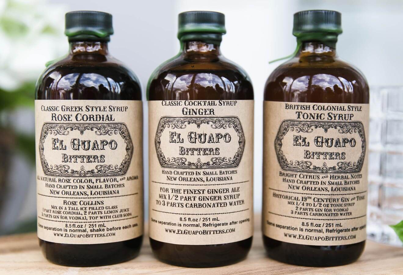 El Guapo Cocktail Syrups