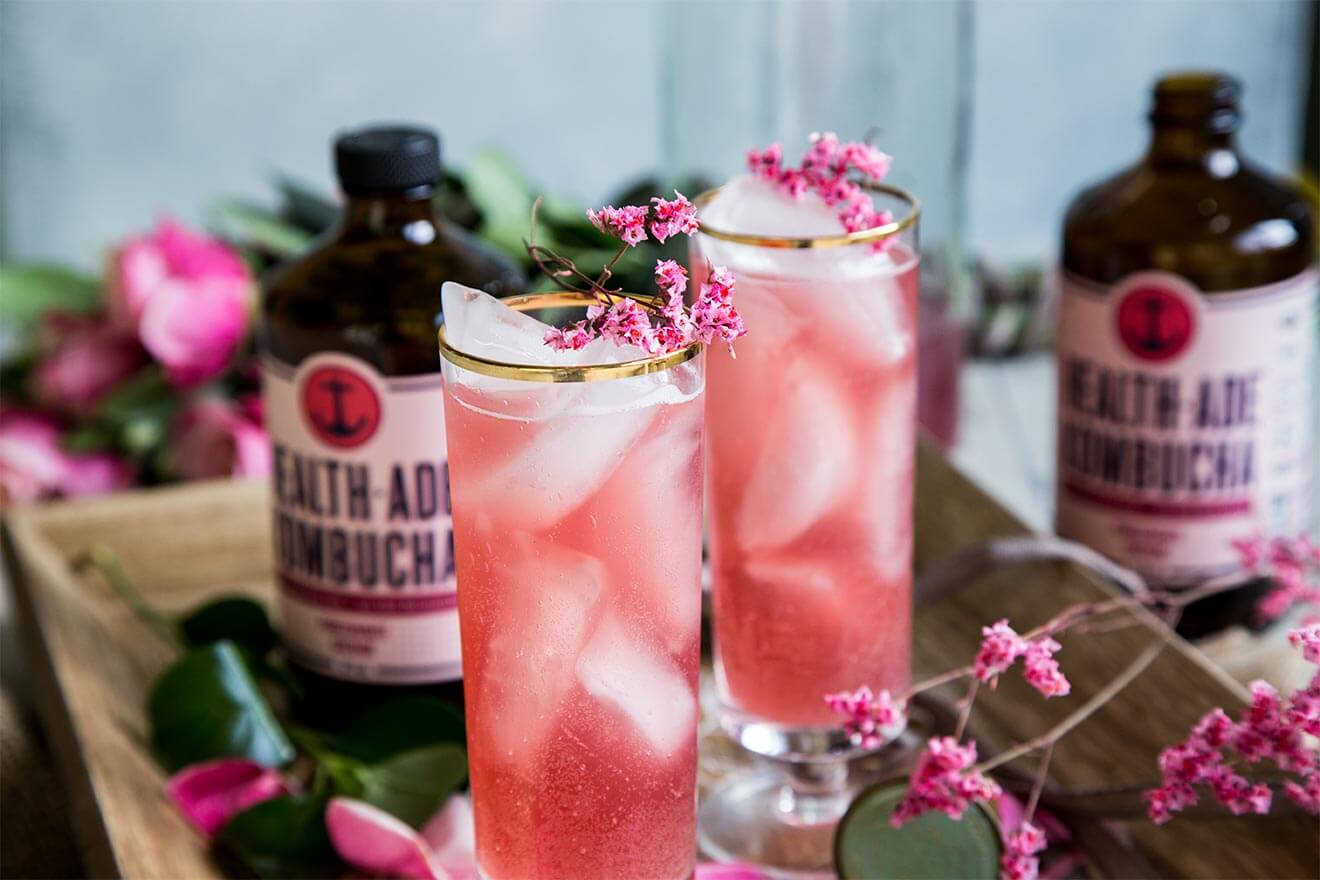 Pomegranate St-Germain Kombucha Spritzer