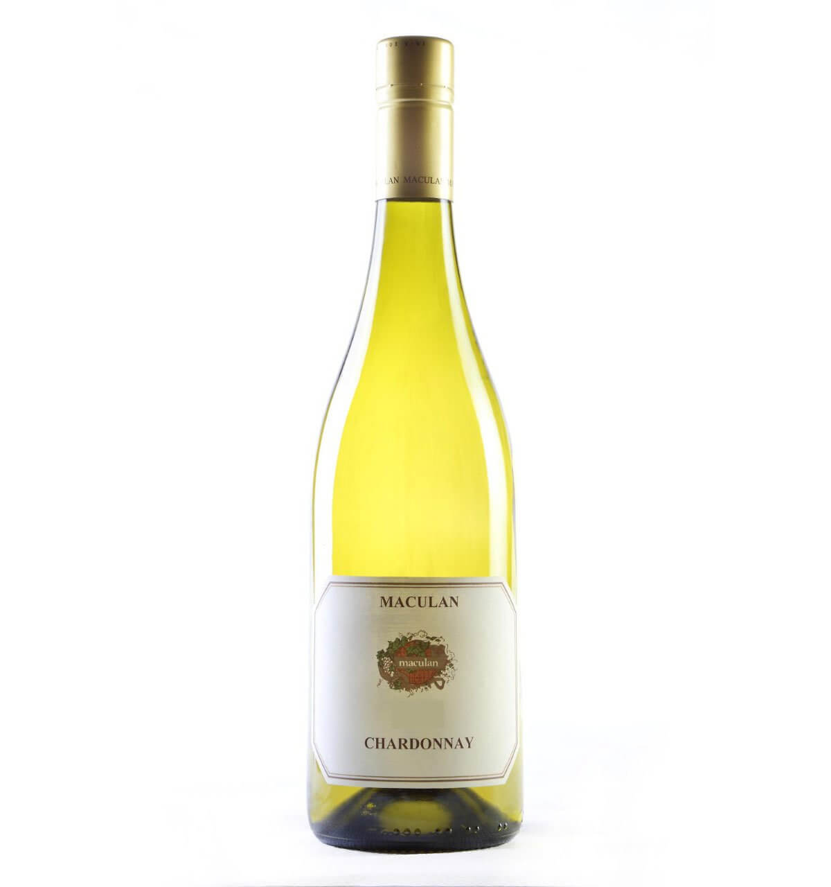 Masculan Chardonnay 2017, bottle on white back