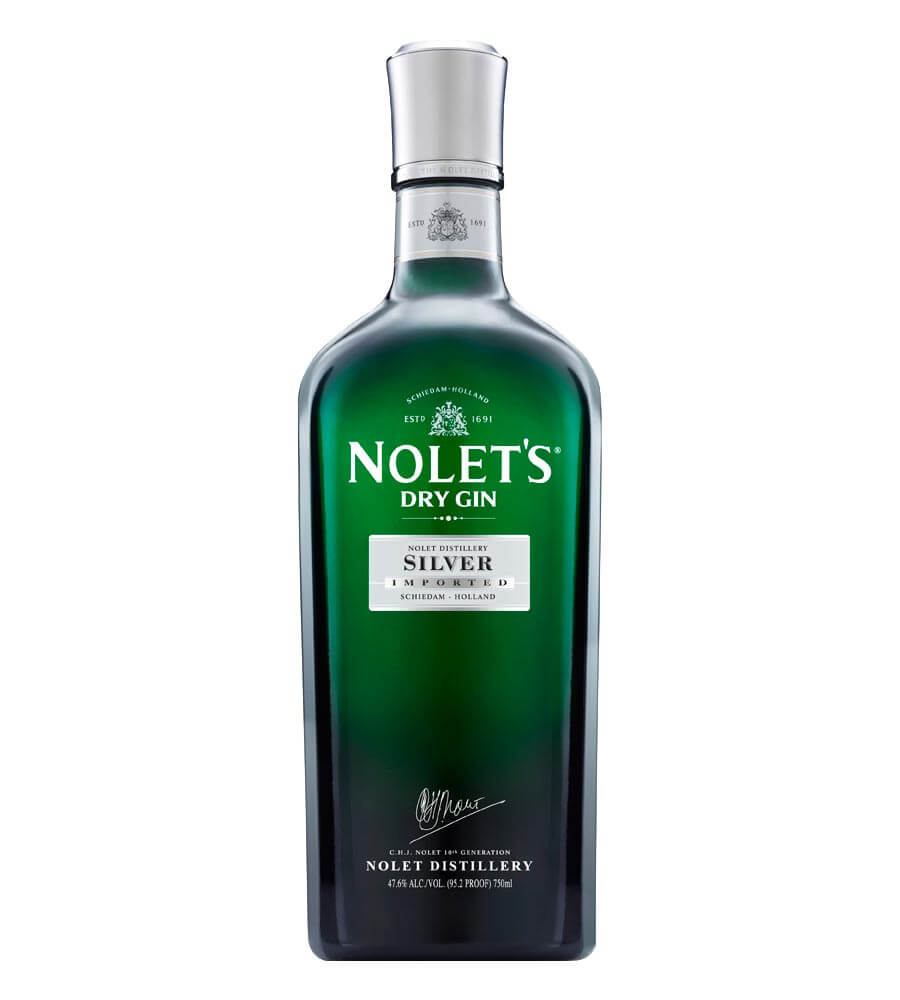 NOLET'S Silver Dry Gin, bottle on white