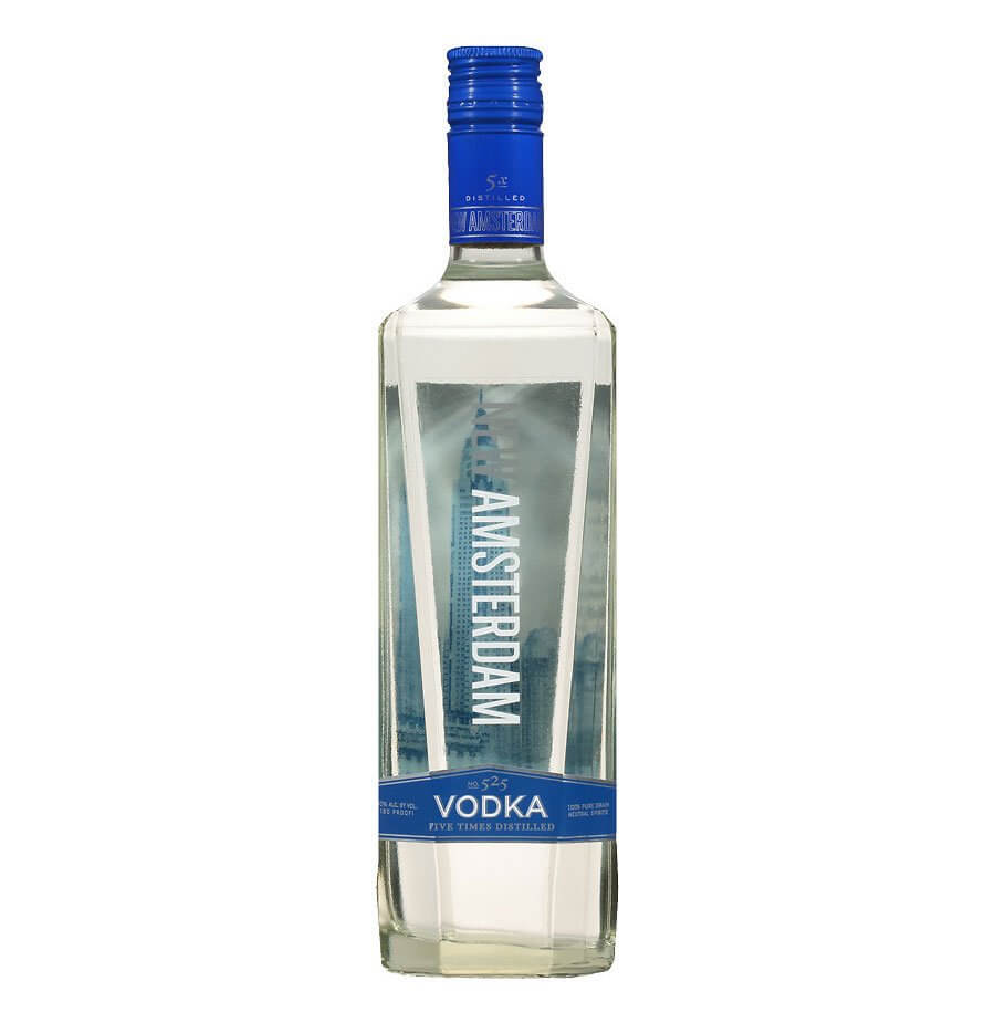New Amsterdam Vodka, bottle on white