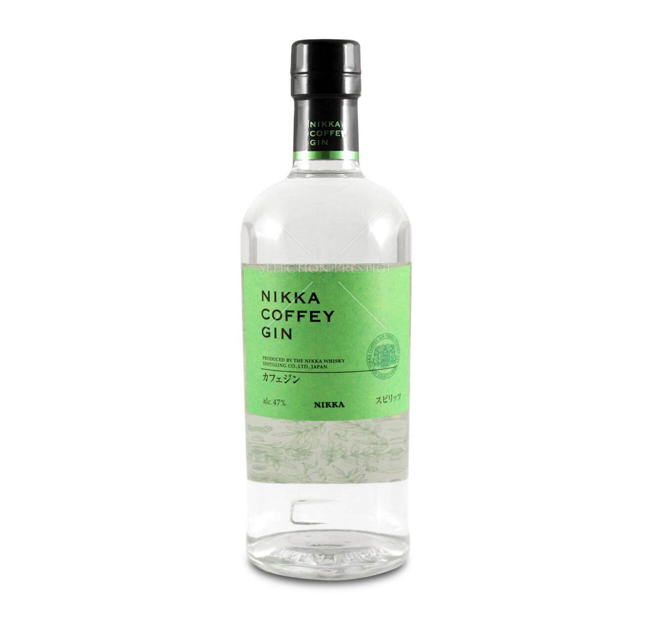 Nikka Coffey Gin, bottle on white