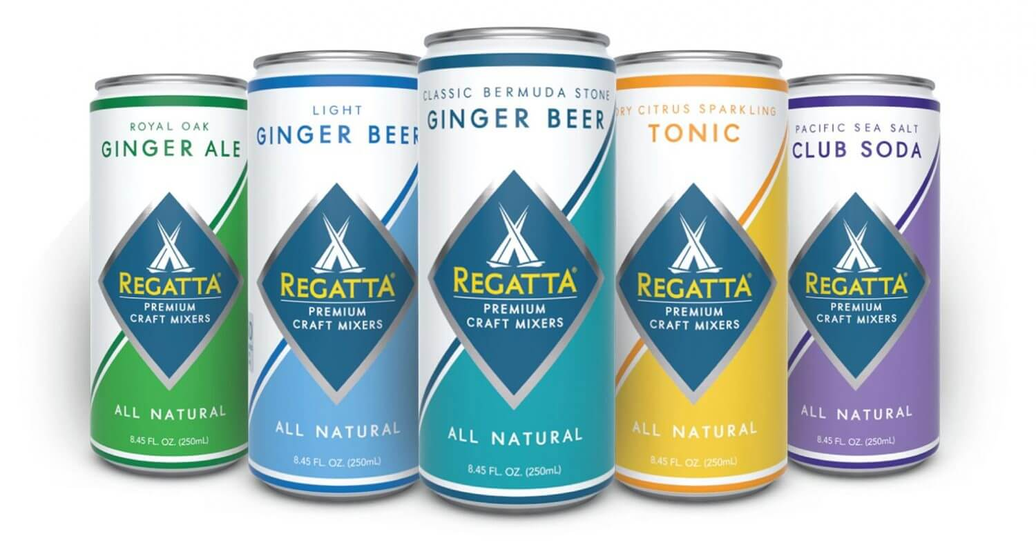 Regatta's Craft Mixer Lineup, cans on white, featured image