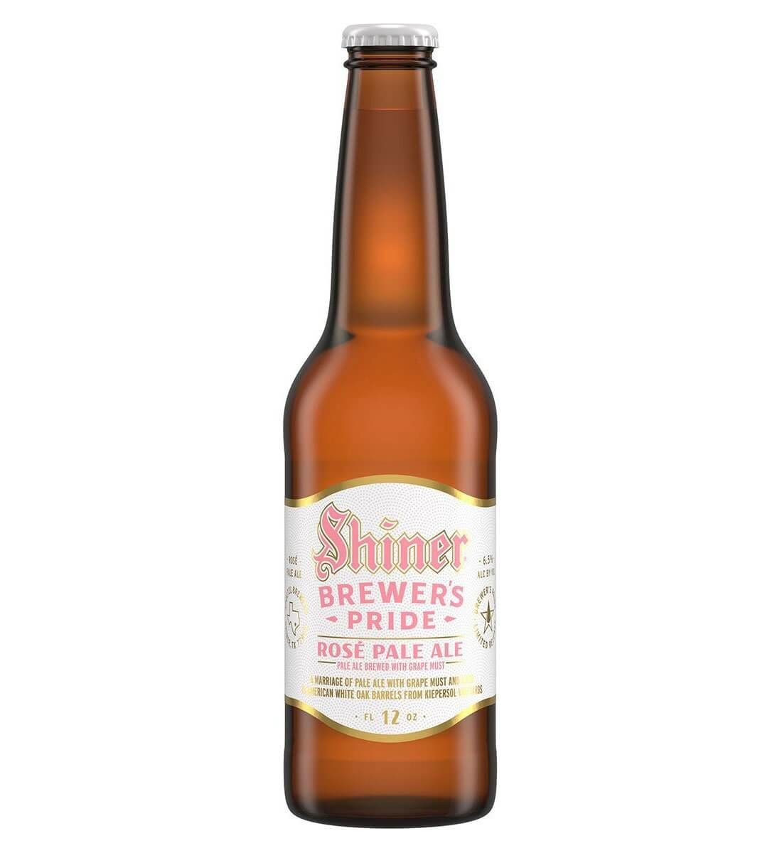 Shiner Brewery Brewer's Pride Rosé Pale Ale, bottle on white