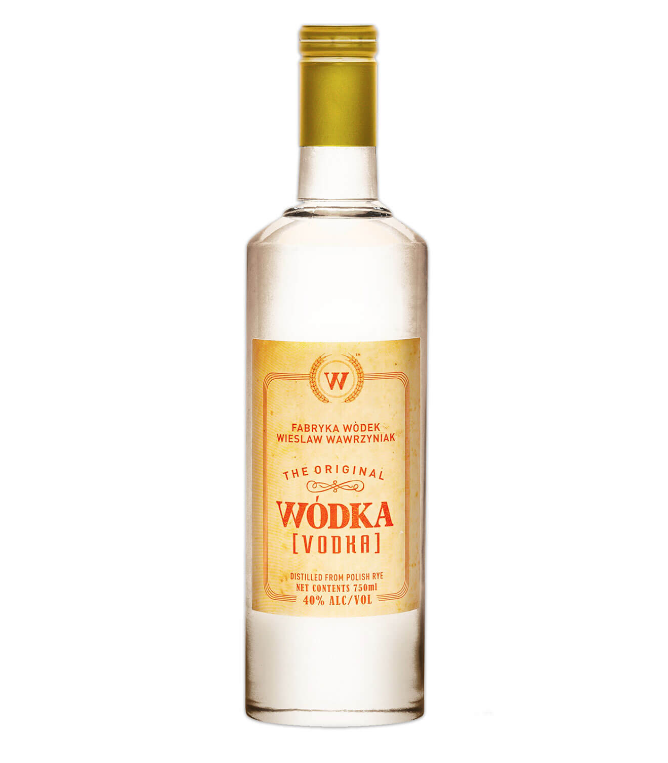 Wódka Vodka bottle on white