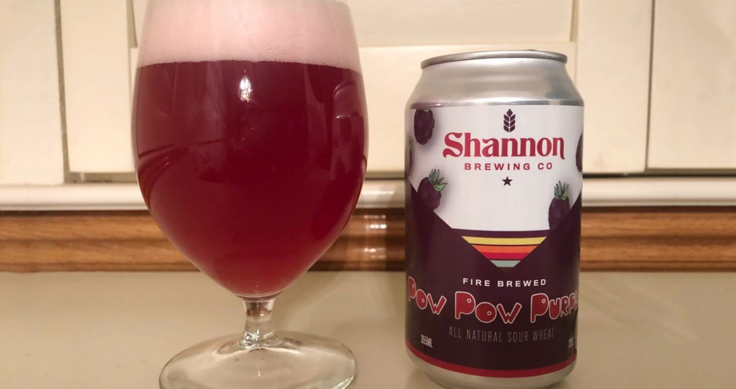 Shannon Brewing Company Pow Pow Purple, new brew review 2019, featured image