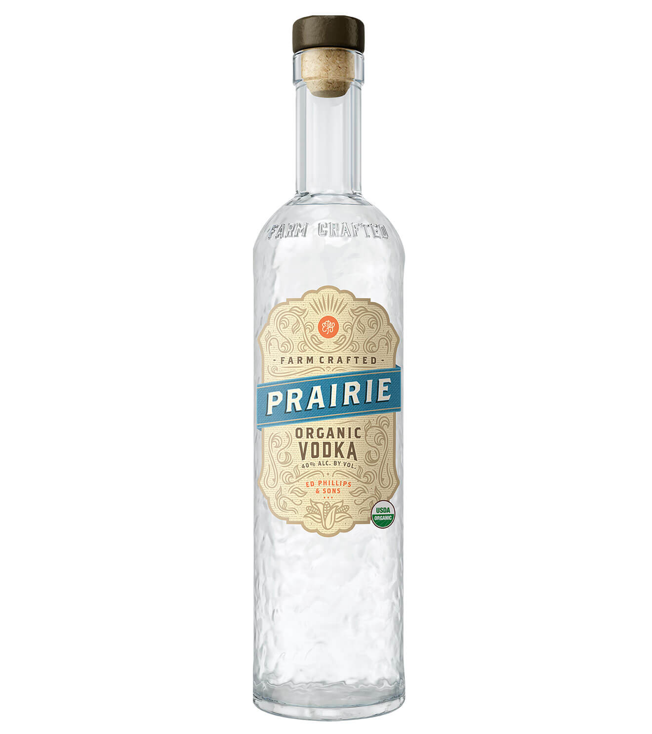 Prairie Organic Vodka, bottle on white