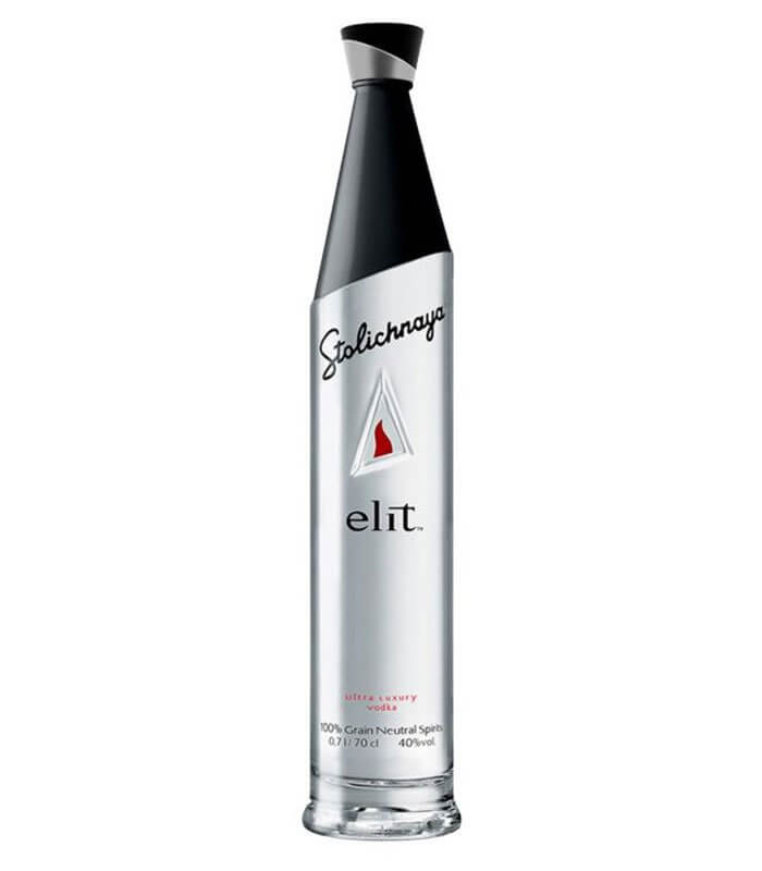 elit Vodka by Stoli, bottle on white