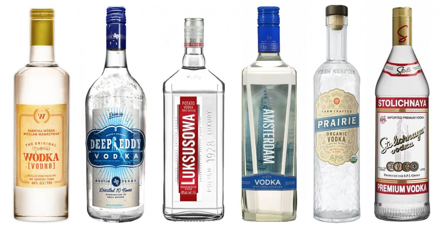 8 Great Inexpensive Vodkas , bottles on white, featured image