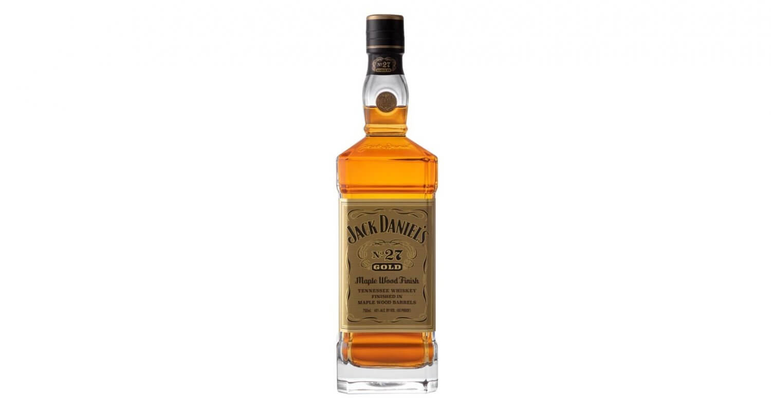 Jack Daniels Gold 27 Maple Wood, bottle on white, featured image