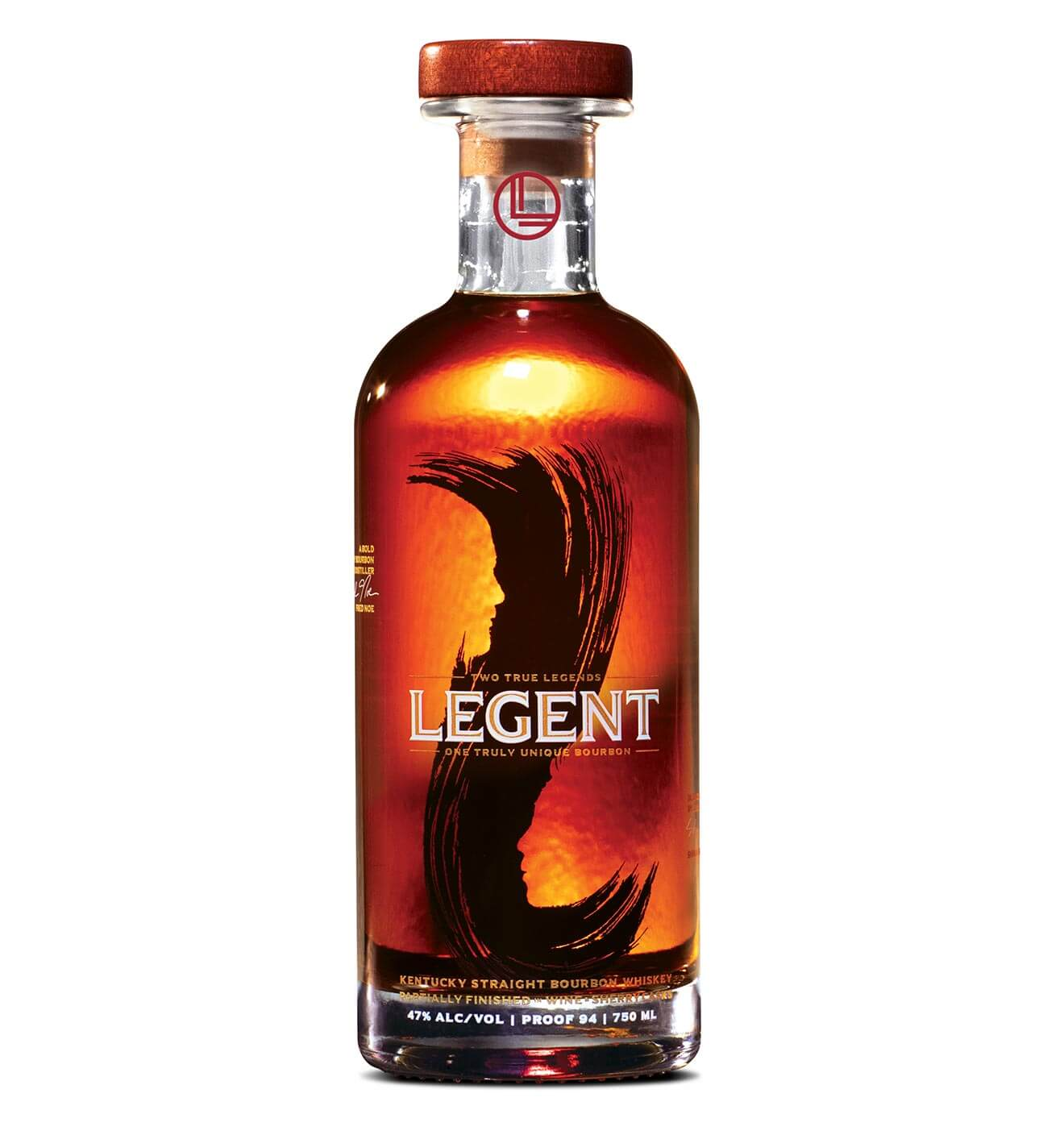 Legent Kentucky Straight Bourbon Whiskey, bottle on white