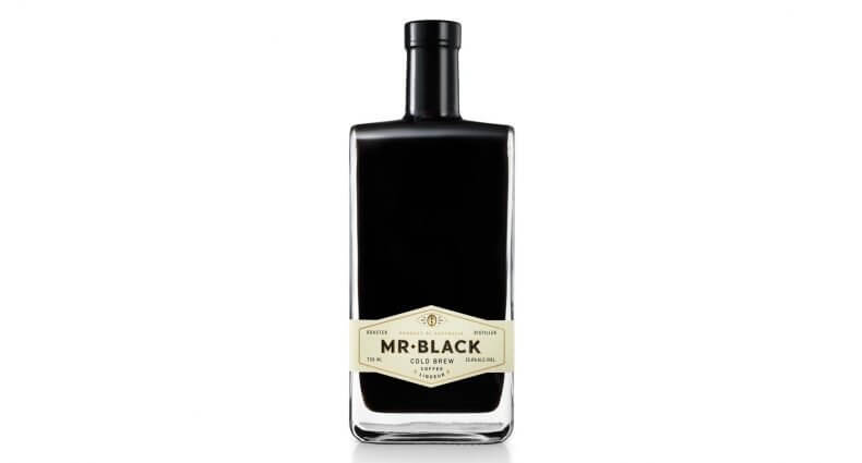 Mr Black Cold Brew Coffee Liqueur, full bottle on white, featured image