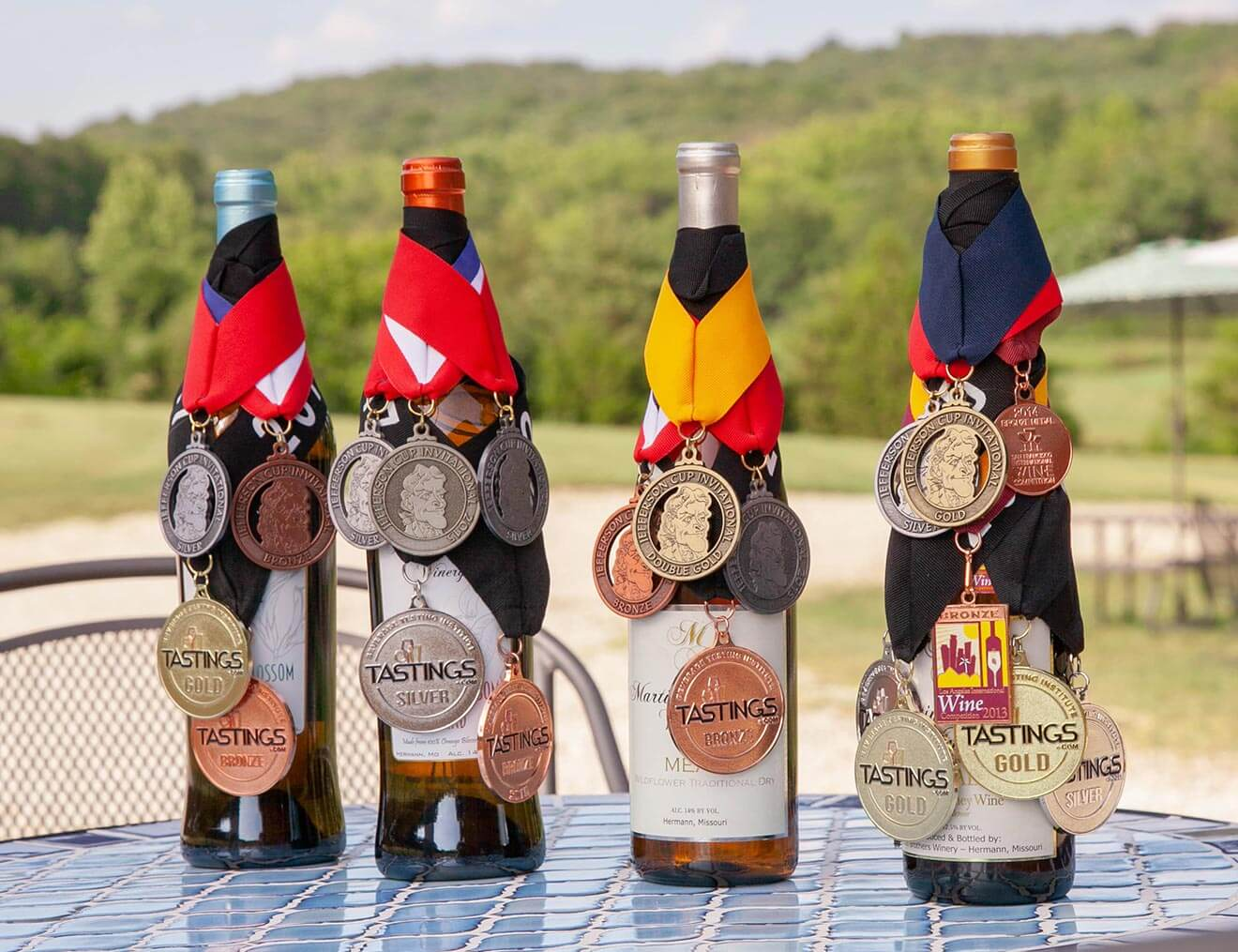 Martin Brothers Winery, bottles with awards