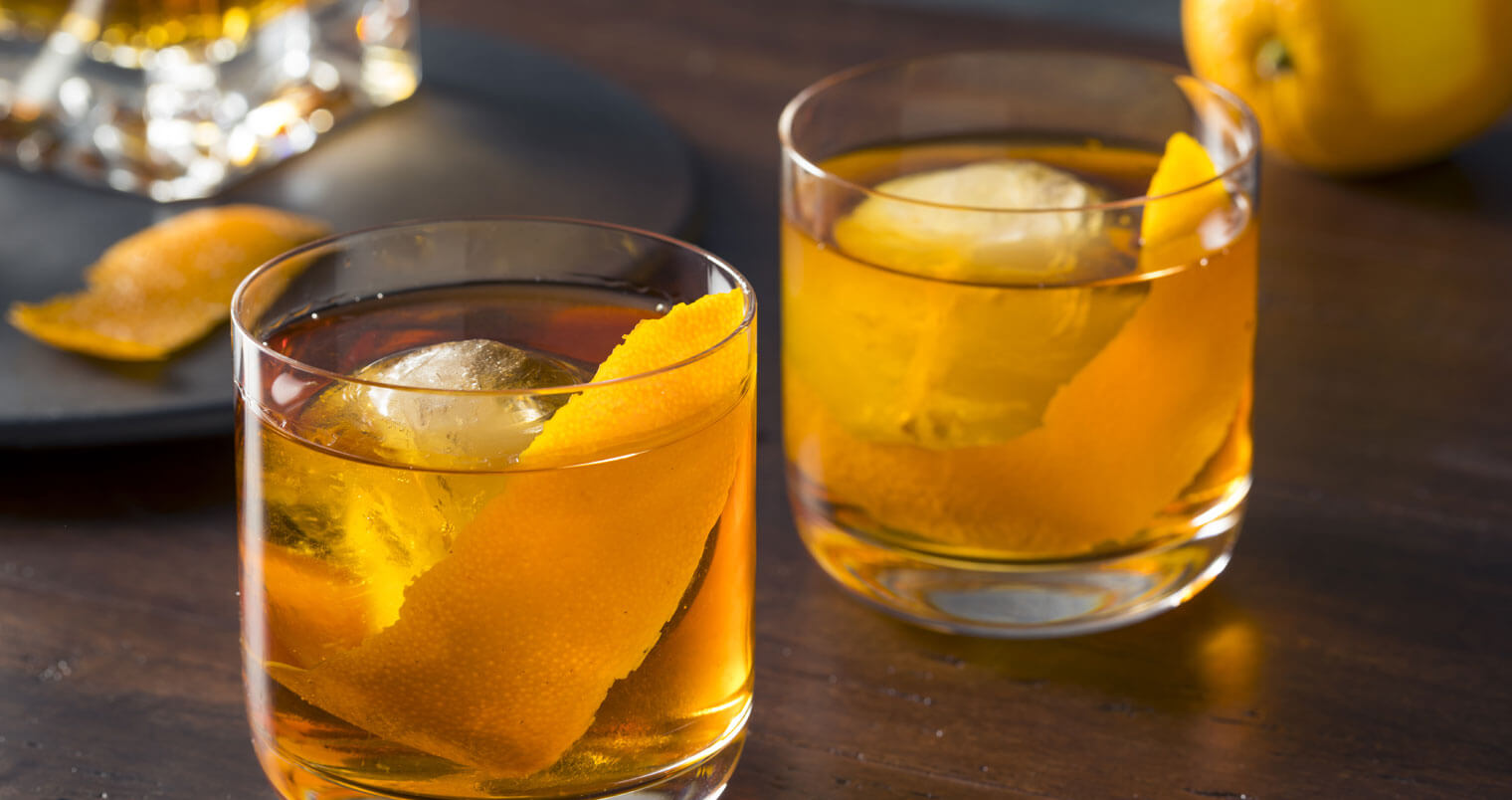 Rye Old Fashioned, cocktails with garnish, featured image