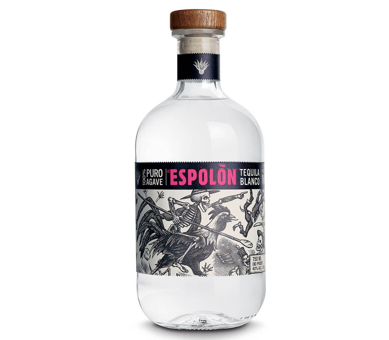 Espolòn Blanco, bottle on white