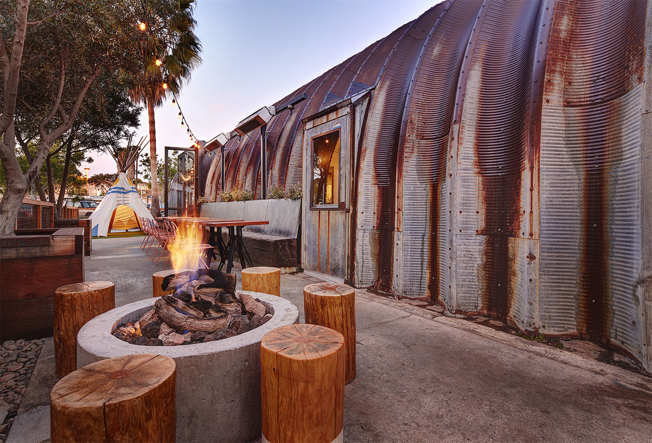 Campfire Exterior, firepit, tp and seating