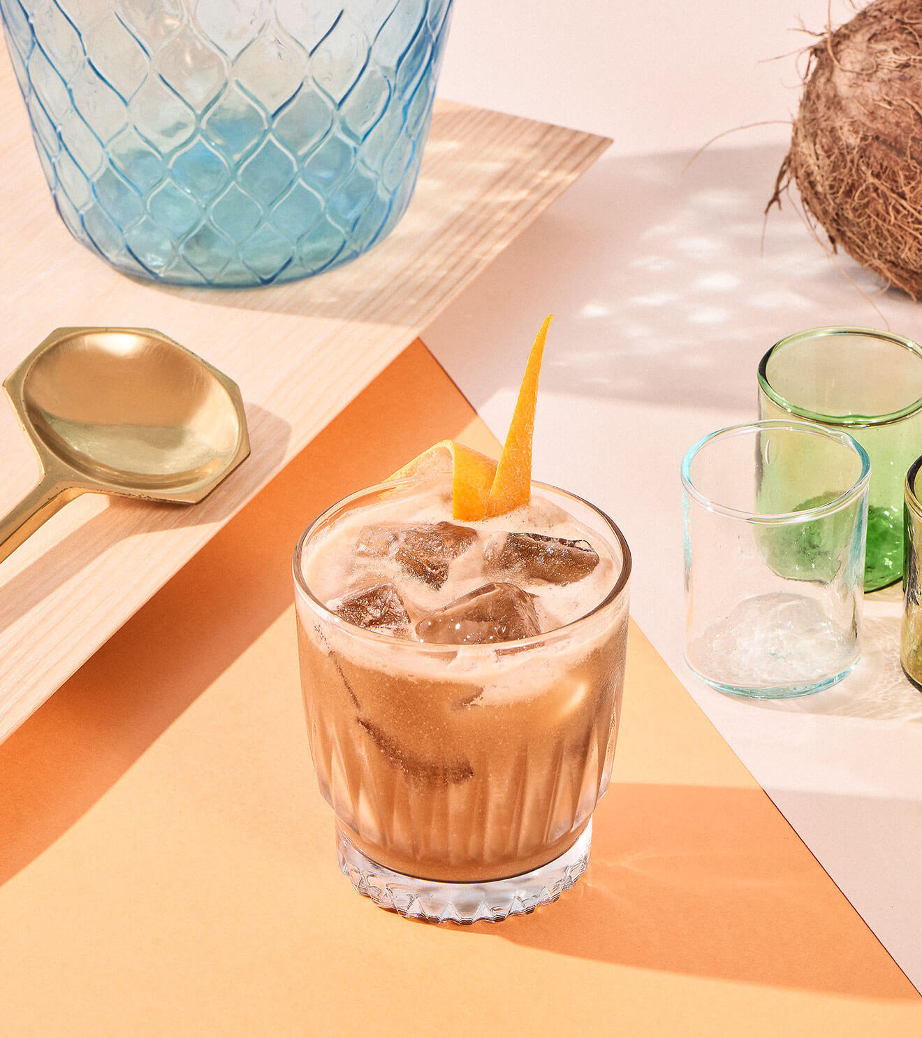 Cointreau Cold Brew, cocktail with various garnishes