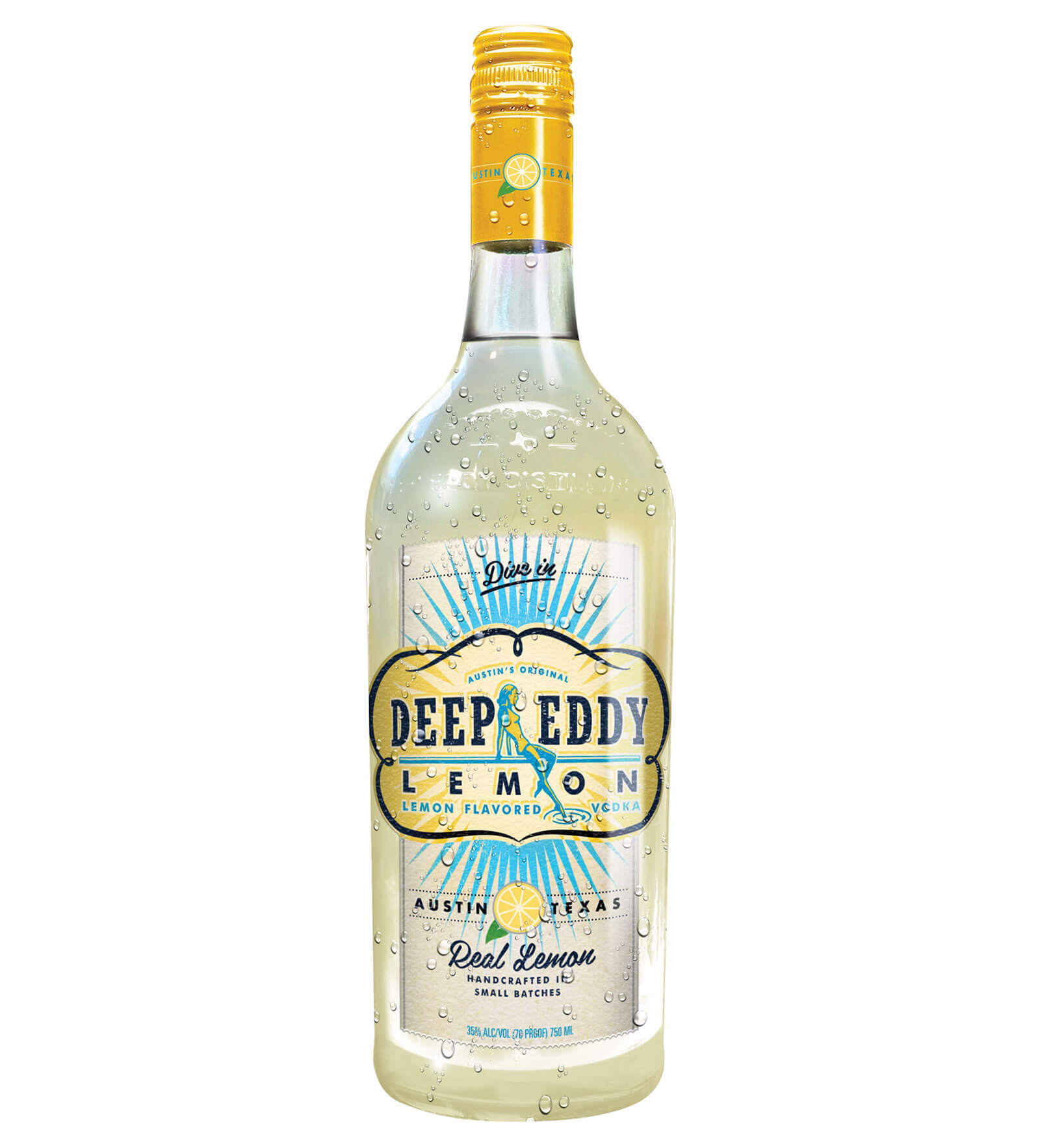 Deep Eddy Lemon Vodka, bottle on white