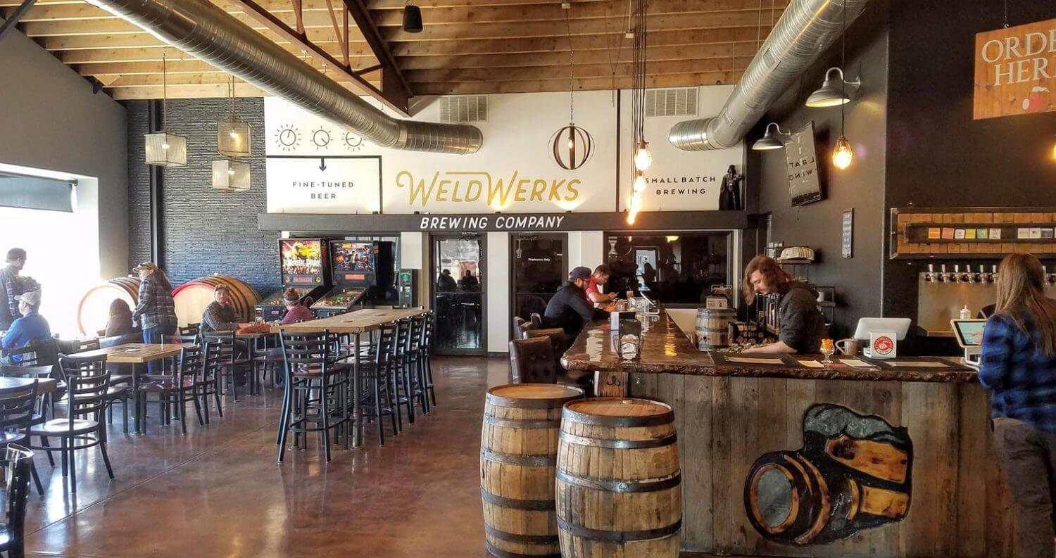 WeldWerks Brewing, bar patrons enjoying, featured image