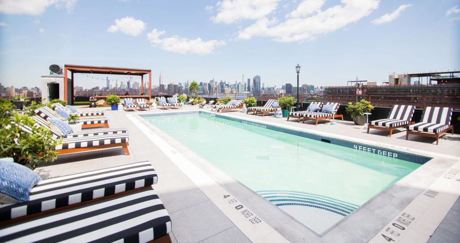 The Williamsburg Hotel pool with a view, featured image
