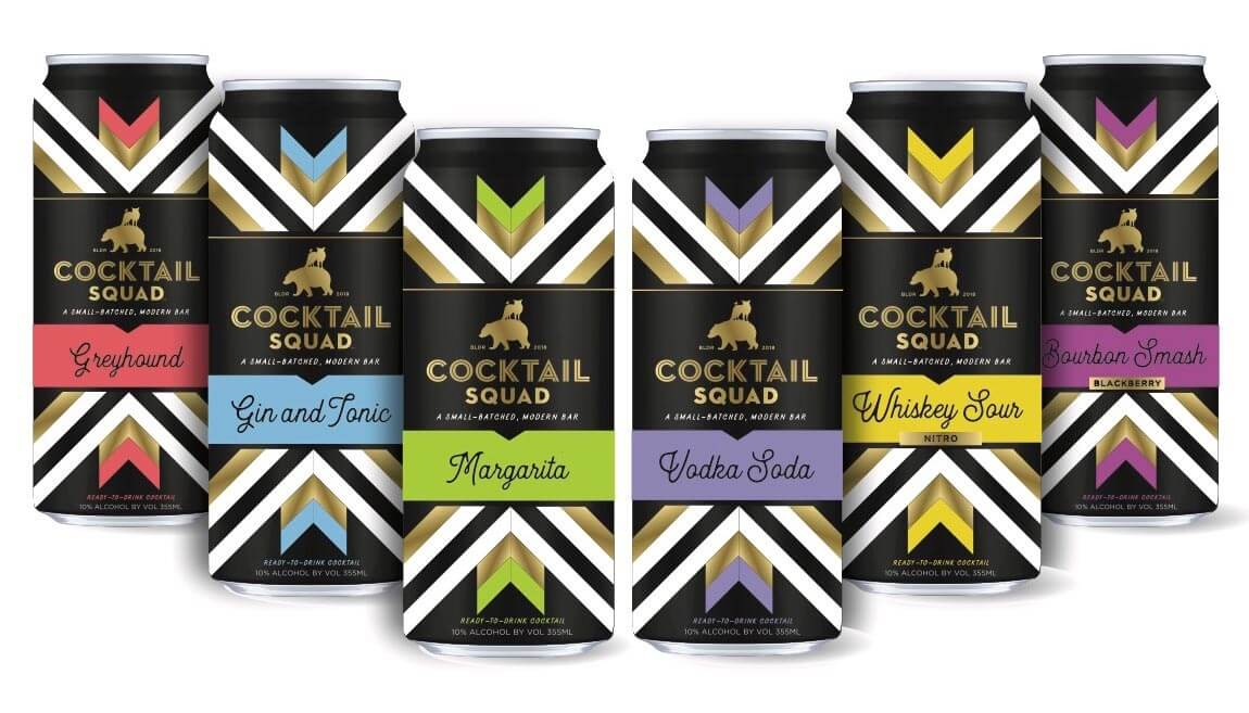 Cocktail Squad Ready-to-Drink Cocktails, canned flavor varieties