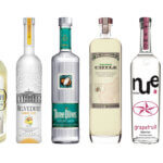 8 Delicious Flavored Vodkas, bottles on white, featured image