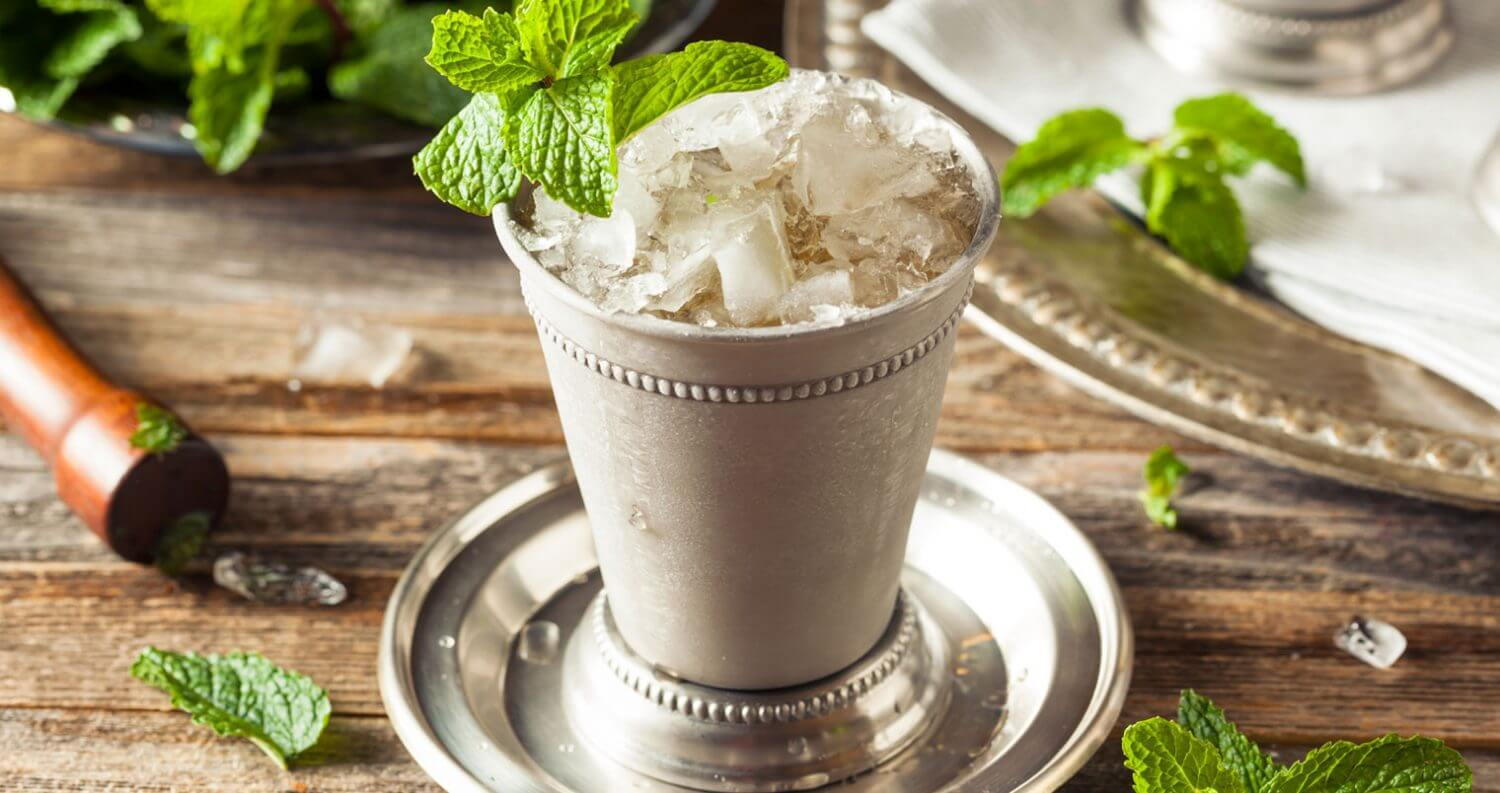 The Perfect Mint Julep, elegant cocktail with garnish, featured image