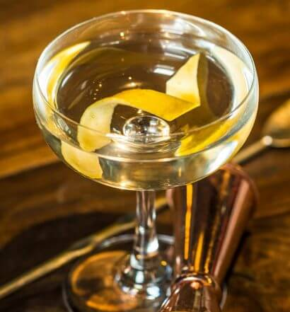 The Classic Martini, cocktail with garnish, featured image