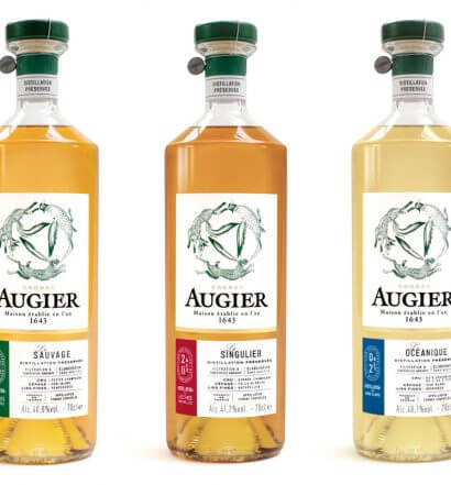 Maison Augier cognacs, bottles on white, featured image