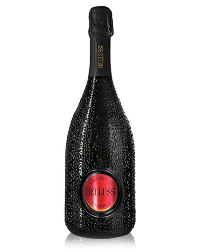 Bellussi Cuvée Prestige, bottle on white