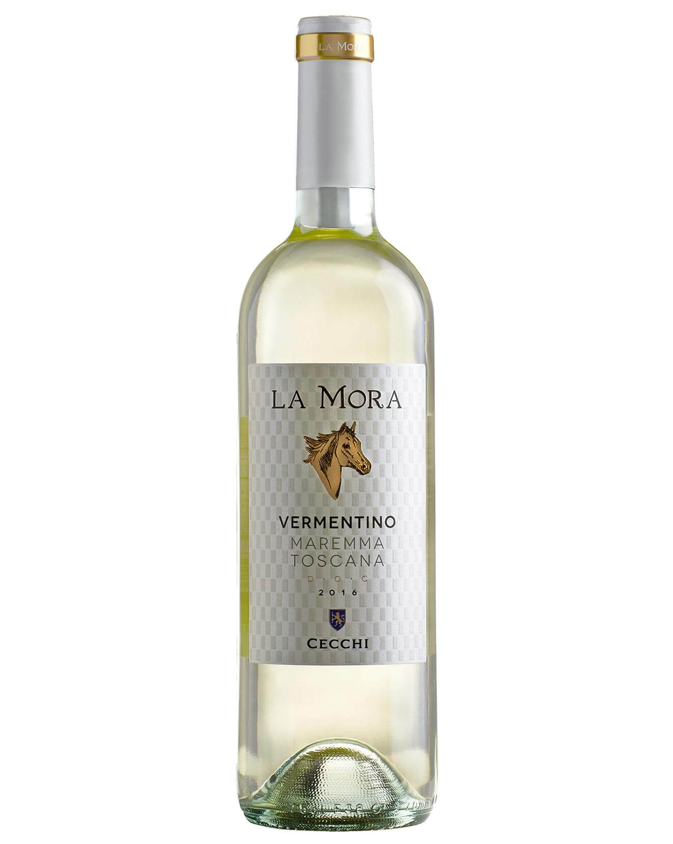 Cecchi La Mora Vermentino 2017, bottle on white